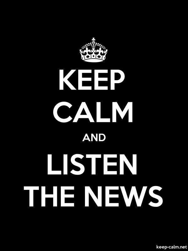 KEEP CALM AND LISTEN THE NEWS - white/black - Default (600x800)