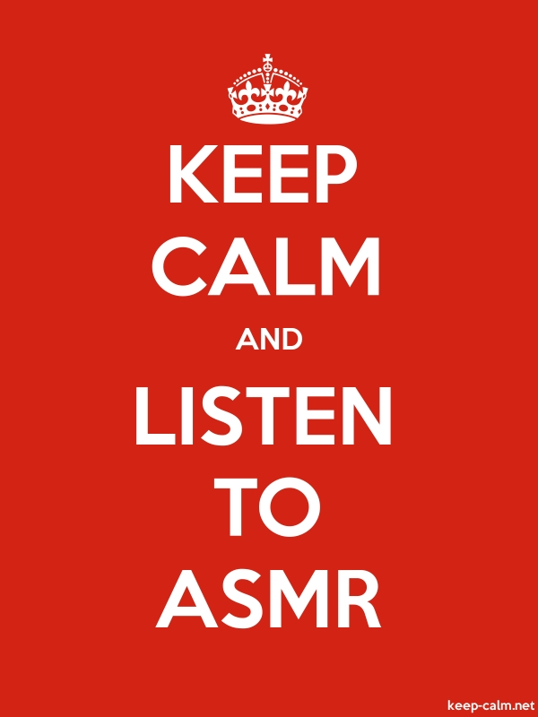 KEEP CALM AND LISTEN TO ASMR - white/red - Default (600x800)
