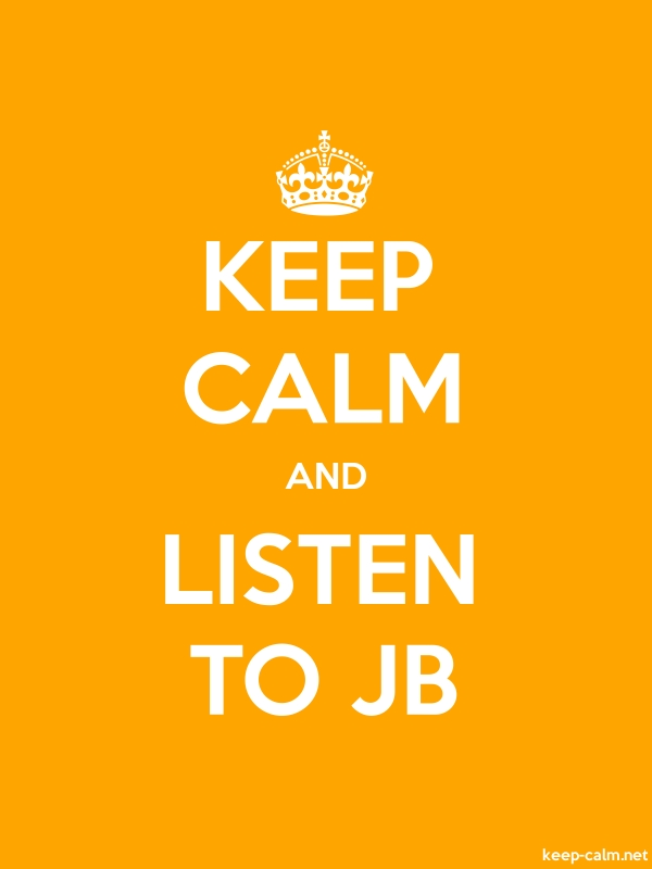 KEEP CALM AND LISTEN TO JB - white/orange - Default (600x800)