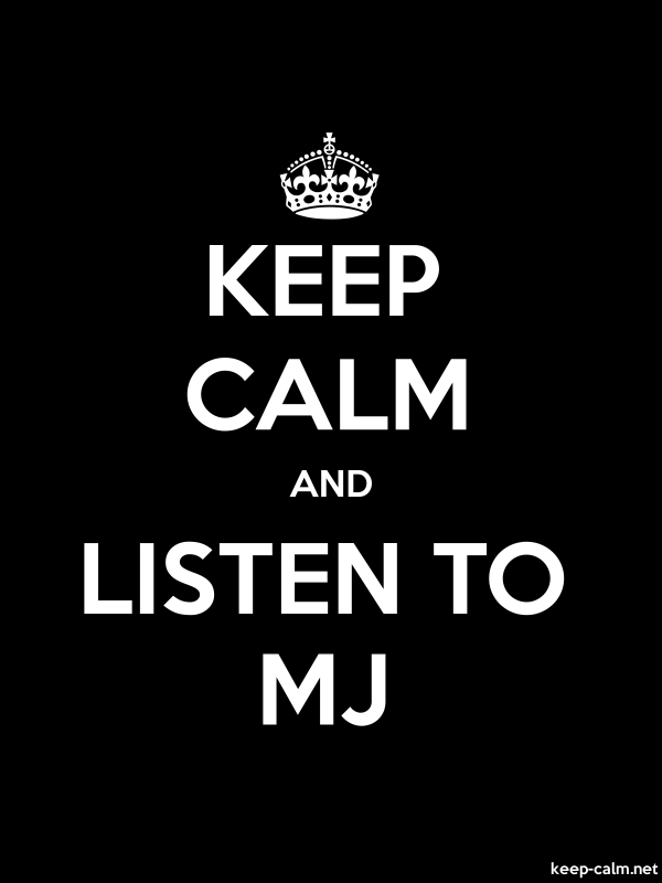 KEEP CALM AND LISTEN TO MJ - white/black - Default (600x800)