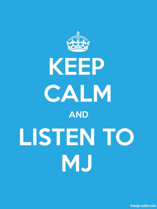 KEEP CALM AND LISTEN TO MJ - white/blue - Default (600x800)