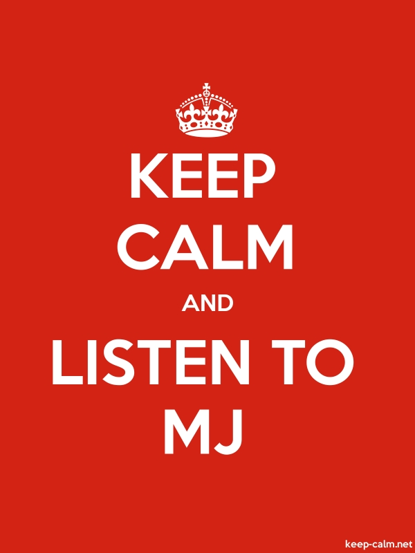 KEEP CALM AND LISTEN TO MJ - white/red - Default (600x800)