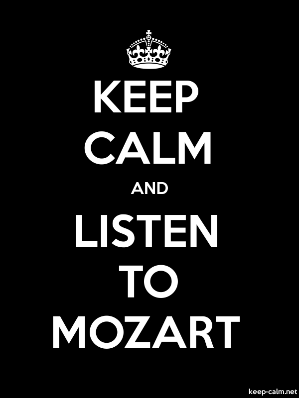 KEEP CALM AND LISTEN TO MOZART - white/black - Default (600x800)