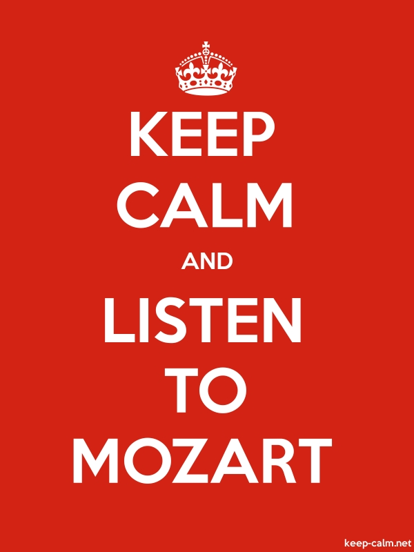 KEEP CALM AND LISTEN TO MOZART - white/red - Default (600x800)