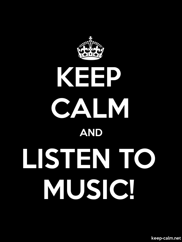 KEEP CALM AND LISTEN TO MUSIC! - white/black - Default (600x800)