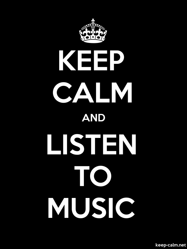 KEEP CALM AND LISTEN TO MUSIC - white/black - Default (600x800)