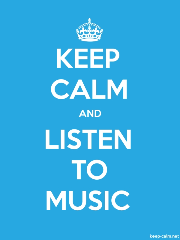 KEEP CALM AND LISTEN TO MUSIC - white/blue - Default (600x800)