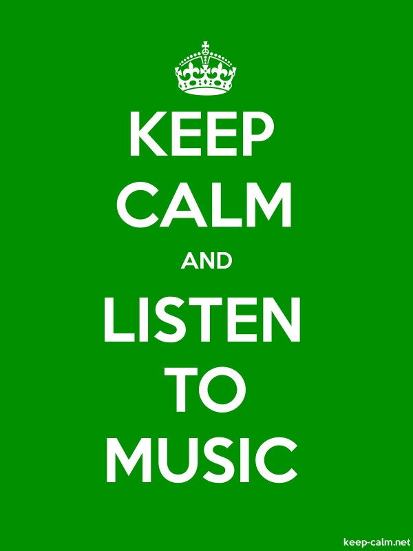 KEEP CALM AND LISTEN TO MUSIC - white/green - Default (600x800)
