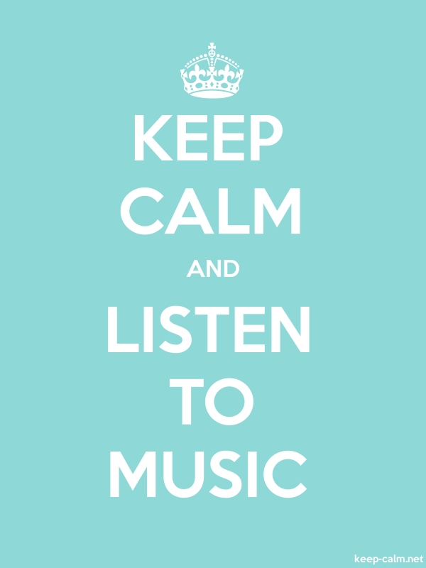 KEEP CALM AND LISTEN TO MUSIC - white/lightblue - Default (600x800)