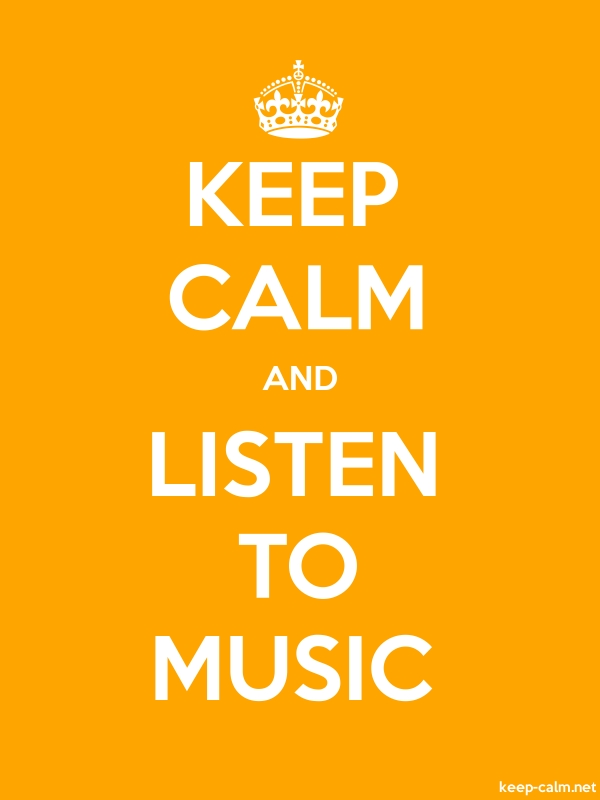 KEEP CALM AND LISTEN TO MUSIC - white/orange - Default (600x800)