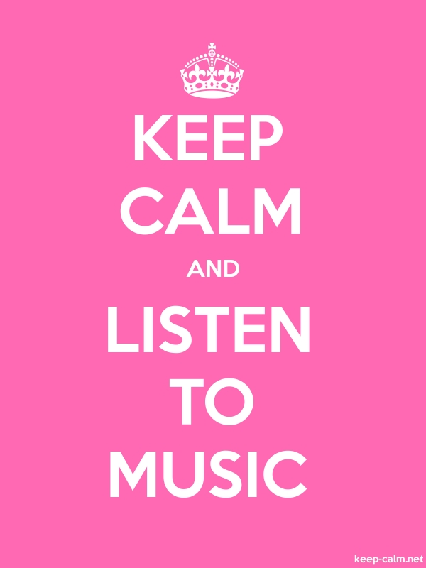 KEEP CALM AND LISTEN TO MUSIC - white/pink - Default (600x800)