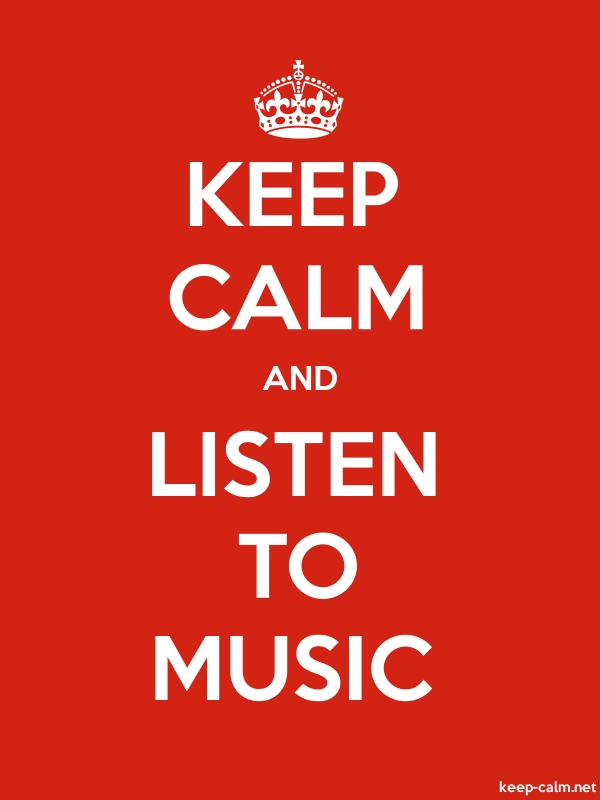 KEEP CALM AND LISTEN TO MUSIC - white/red - Default (600x800)