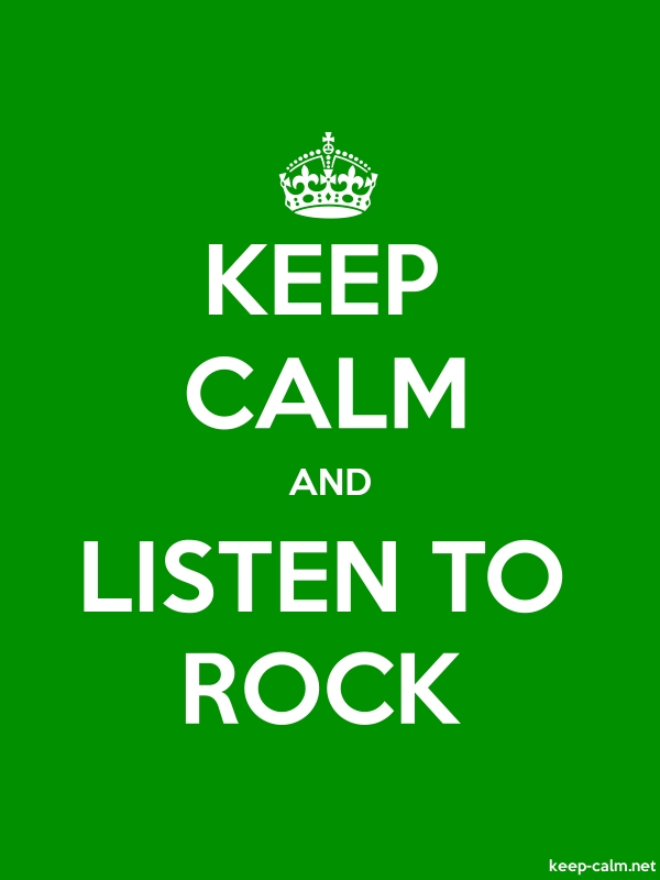 KEEP CALM AND LISTEN TO ROCK - white/green - Default (600x800)