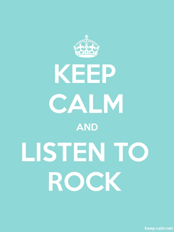 KEEP CALM AND LISTEN TO ROCK - white/lightblue - Default (600x800)