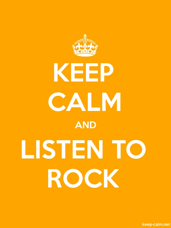 KEEP CALM AND LISTEN TO ROCK - white/orange - Default (600x800)
