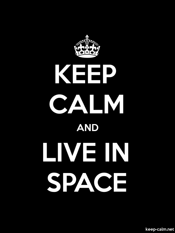 KEEP CALM AND LIVE IN SPACE - white/black - Default (600x800)