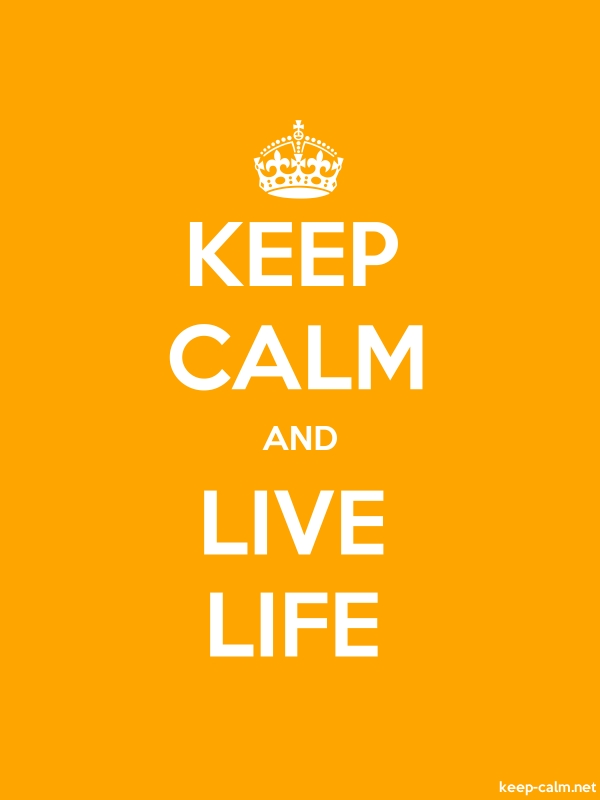 KEEP CALM AND LIVE LIFE - white/orange - Default (600x800)