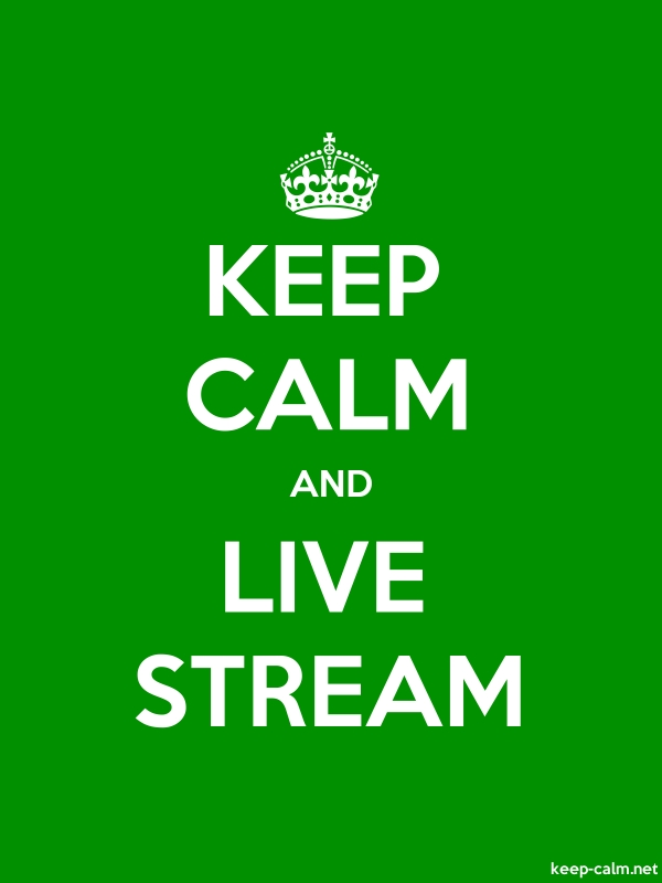 KEEP CALM AND LIVE STREAM - white/green - Default (600x800)