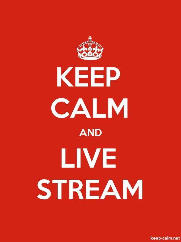 KEEP CALM AND LIVE STREAM - white/red - Default (600x800)