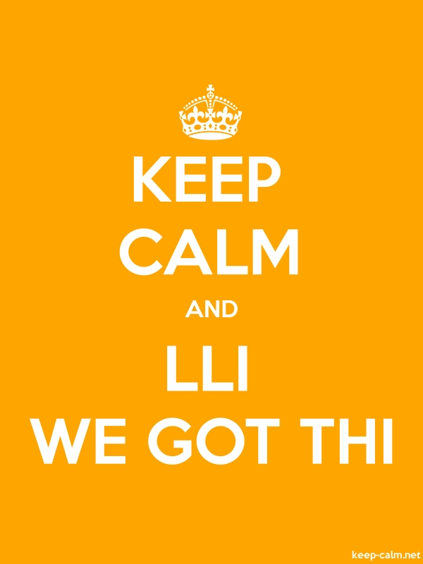 KEEP CALM AND LLI WE GOT THI - white/orange - Default (600x800)