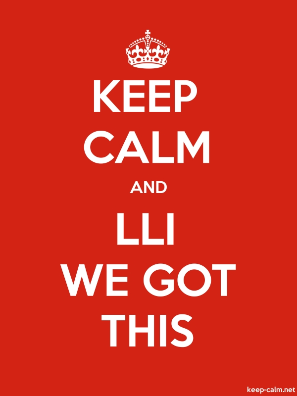 KEEP CALM AND LLI WE GOT THIS - white/red - Default (600x800)