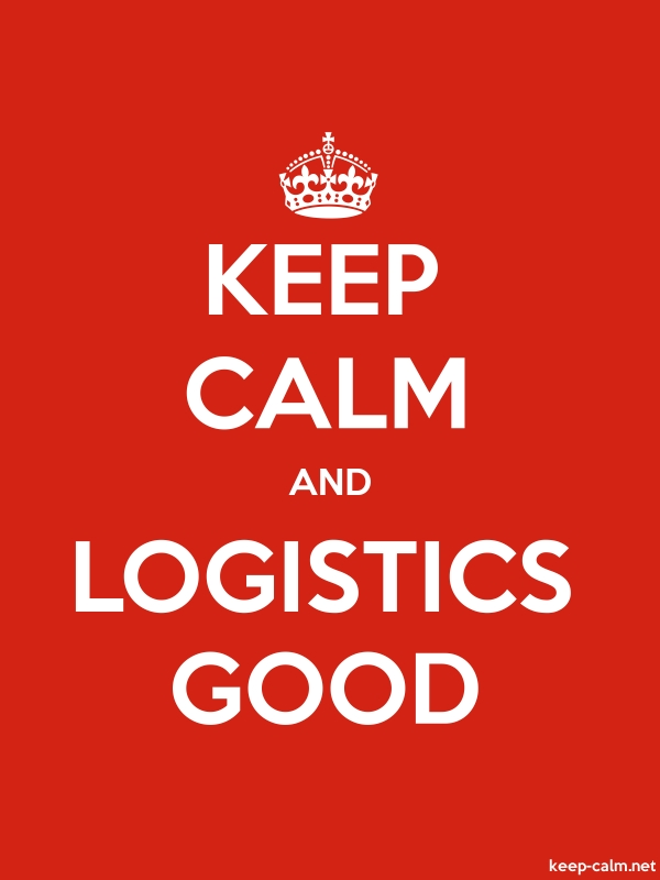 KEEP CALM AND LOGISTICS GOOD - white/red - Default (600x800)