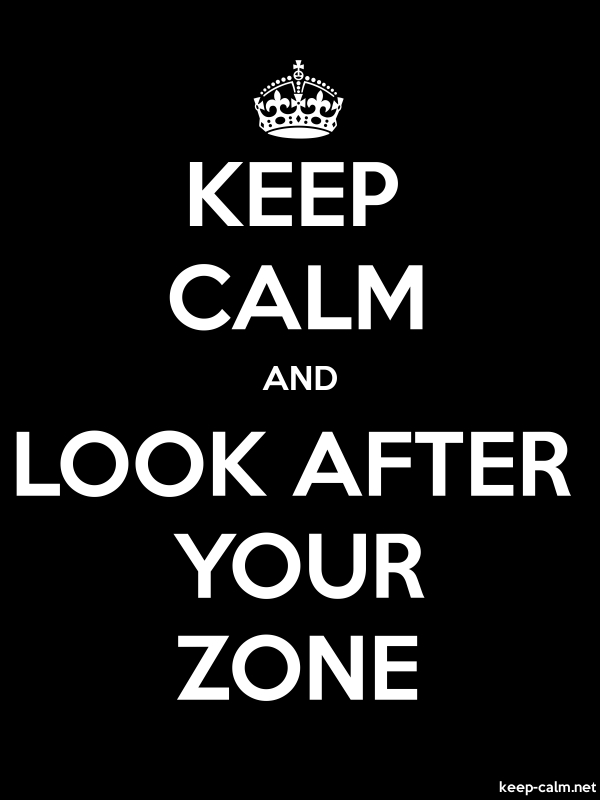 KEEP CALM AND LOOK AFTER YOUR ZONE - white/black - Default (600x800)