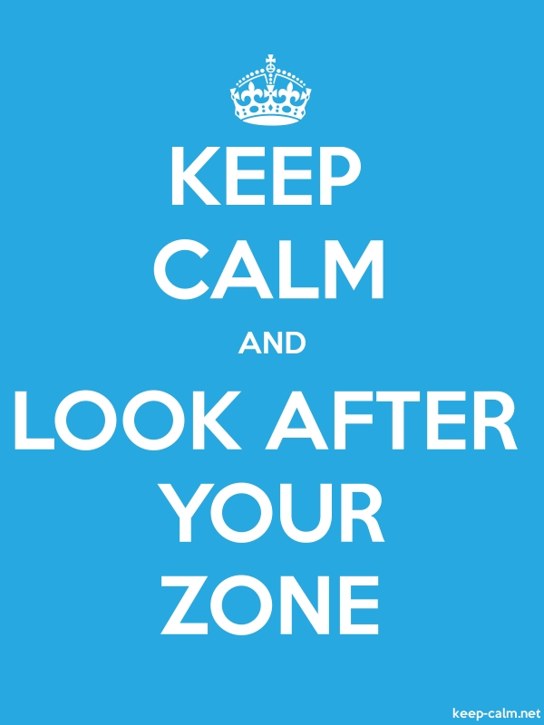 KEEP CALM AND LOOK AFTER YOUR ZONE - white/blue - Default (600x800)