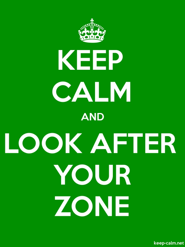 KEEP CALM AND LOOK AFTER YOUR ZONE - white/green - Default (600x800)
