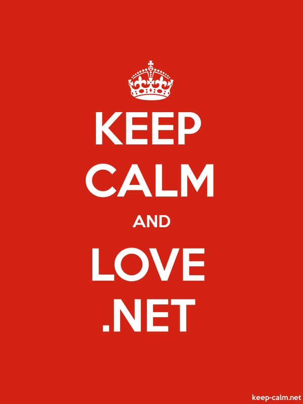 KEEP CALM AND LOVE .NET - white/red - Default (600x800)