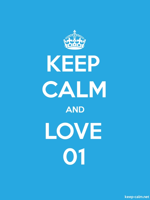 KEEP CALM AND LOVE 01 - white/blue - Default (600x800)