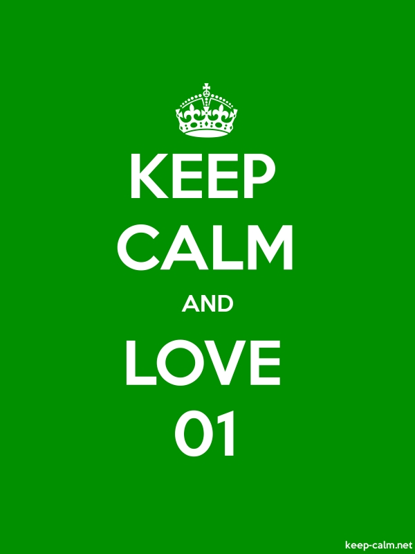 KEEP CALM AND LOVE 01 - white/green - Default (600x800)
