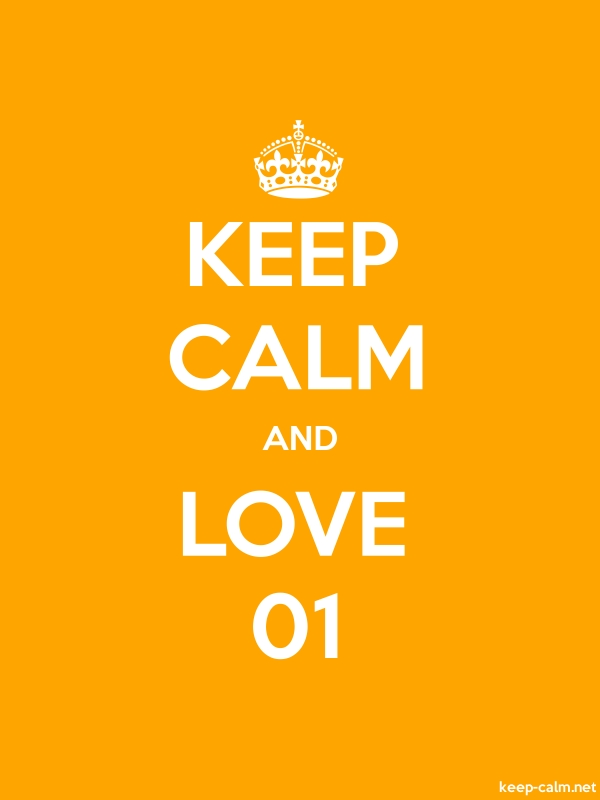 KEEP CALM AND LOVE 01 - white/orange - Default (600x800)