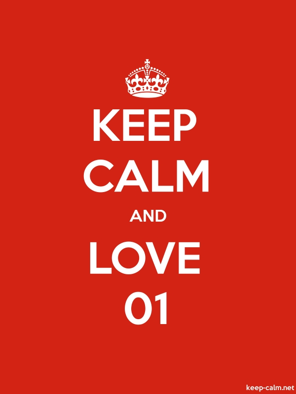 KEEP CALM AND LOVE 01 - white/red - Default (600x800)