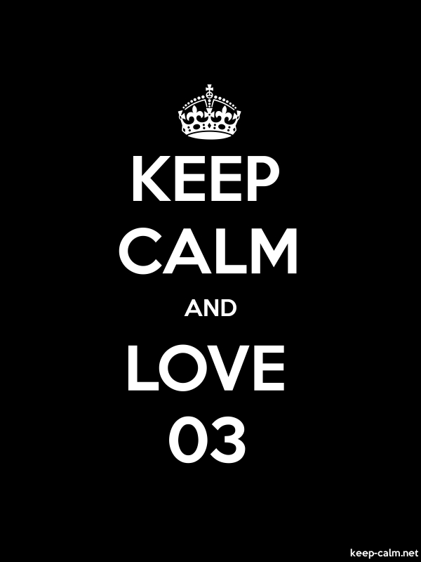 KEEP CALM AND LOVE 03 - white/black - Default (600x800)