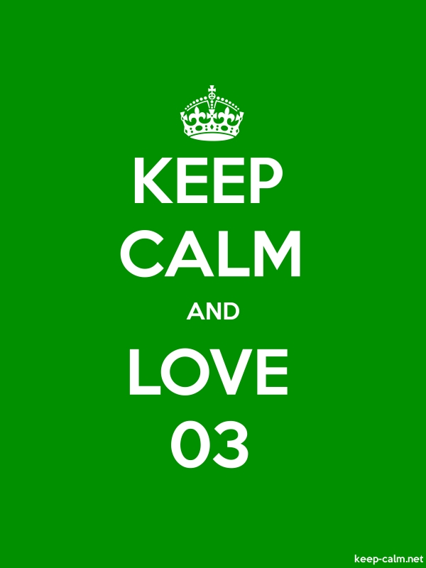 KEEP CALM AND LOVE 03 - white/green - Default (600x800)