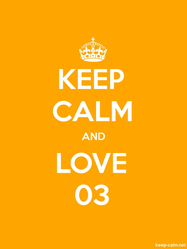 KEEP CALM AND LOVE 03 - white/orange - Default (600x800)