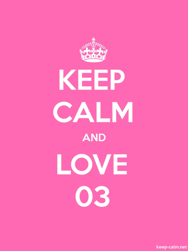 KEEP CALM AND LOVE 03 - white/pink - Default (600x800)