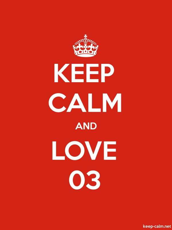 KEEP CALM AND LOVE 03 - white/red - Default (600x800)