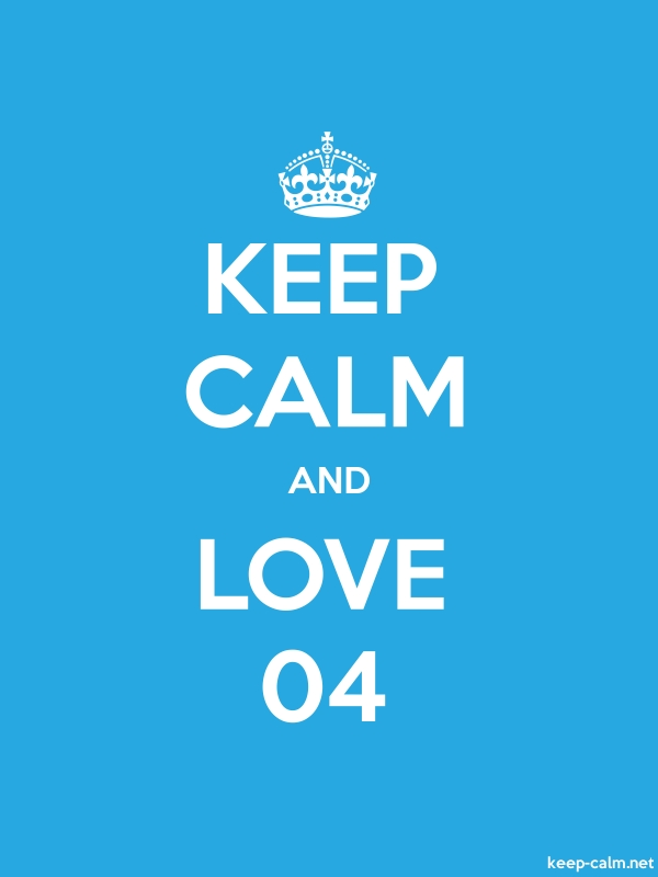 KEEP CALM AND LOVE 04 - white/blue - Default (600x800)