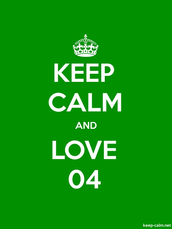 KEEP CALM AND LOVE 04 - white/green - Default (600x800)