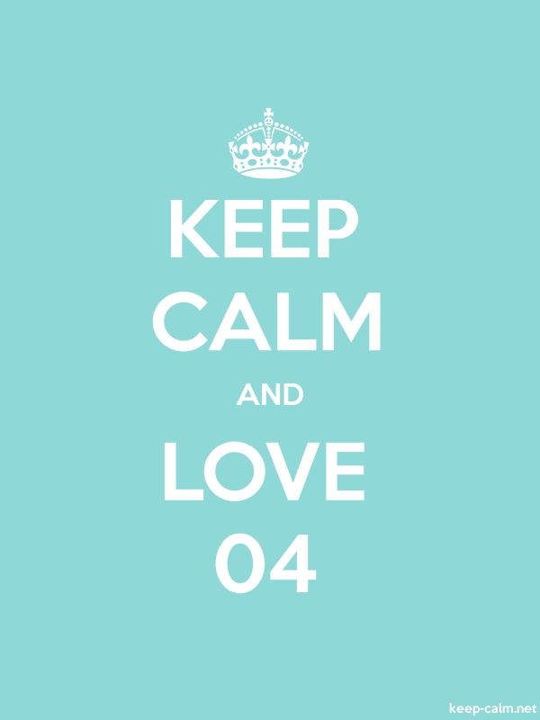 KEEP CALM AND LOVE 04 - white/lightblue - Default (600x800)