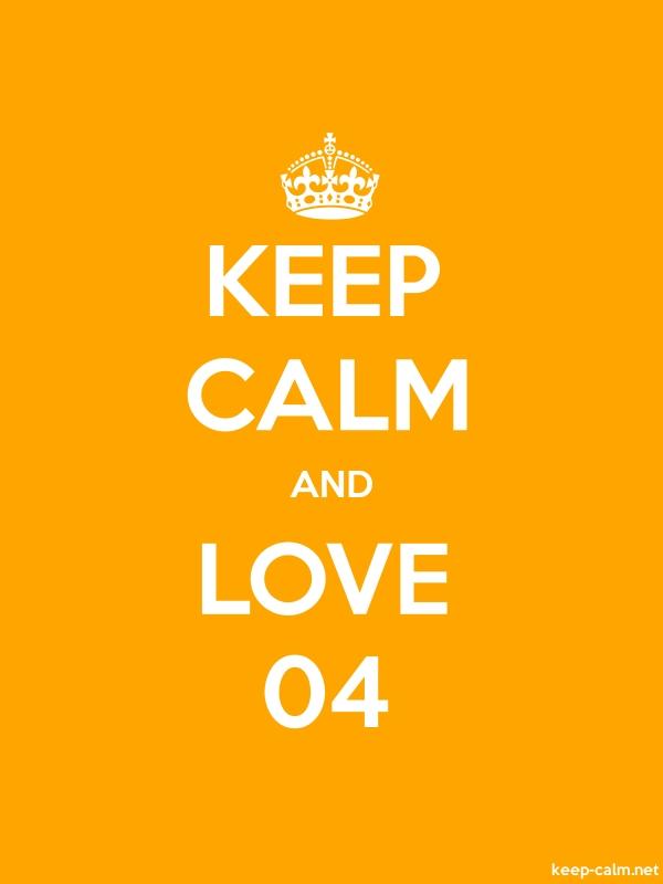 KEEP CALM AND LOVE 04 - white/orange - Default (600x800)