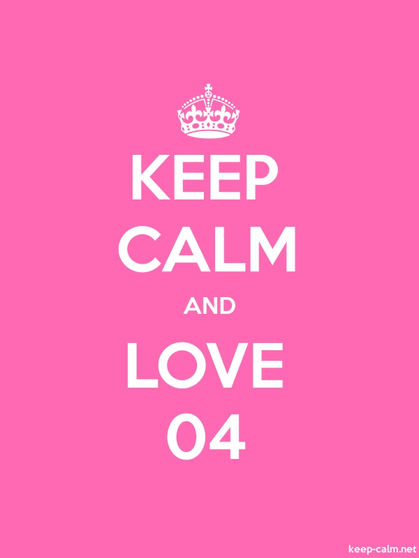 KEEP CALM AND LOVE 04 - white/pink - Default (600x800)