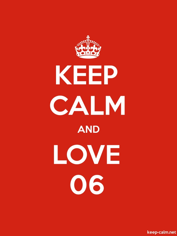 KEEP CALM AND LOVE 06 - white/red - Default (600x800)