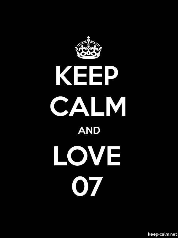 KEEP CALM AND LOVE 07 - white/black - Default (600x800)