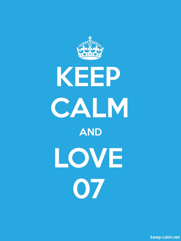 KEEP CALM AND LOVE 07 - white/blue - Default (600x800)