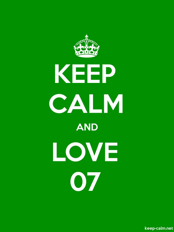 KEEP CALM AND LOVE 07 - white/green - Default (600x800)