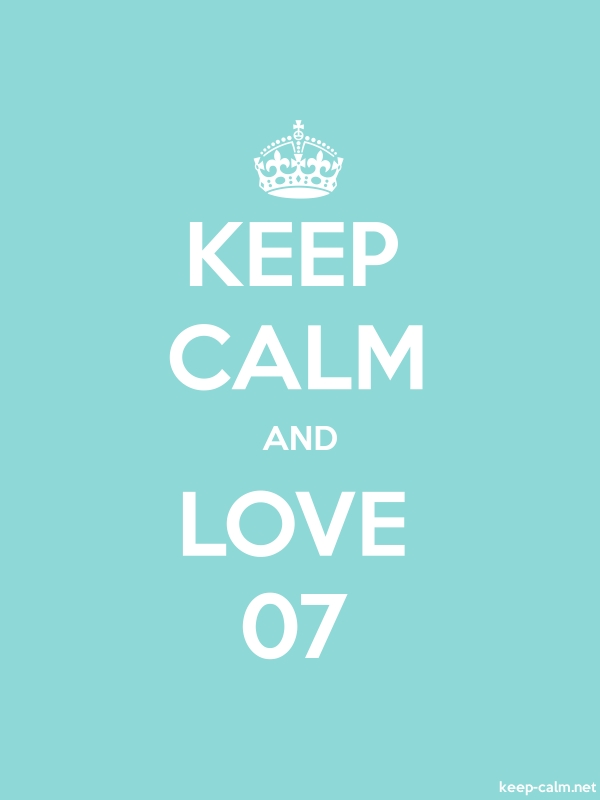 KEEP CALM AND LOVE 07 - white/lightblue - Default (600x800)