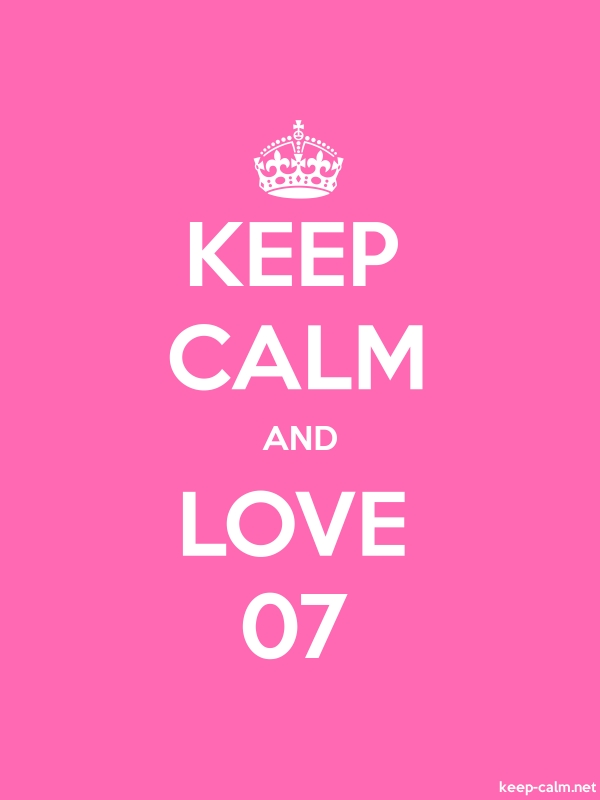 KEEP CALM AND LOVE 07 - white/pink - Default (600x800)